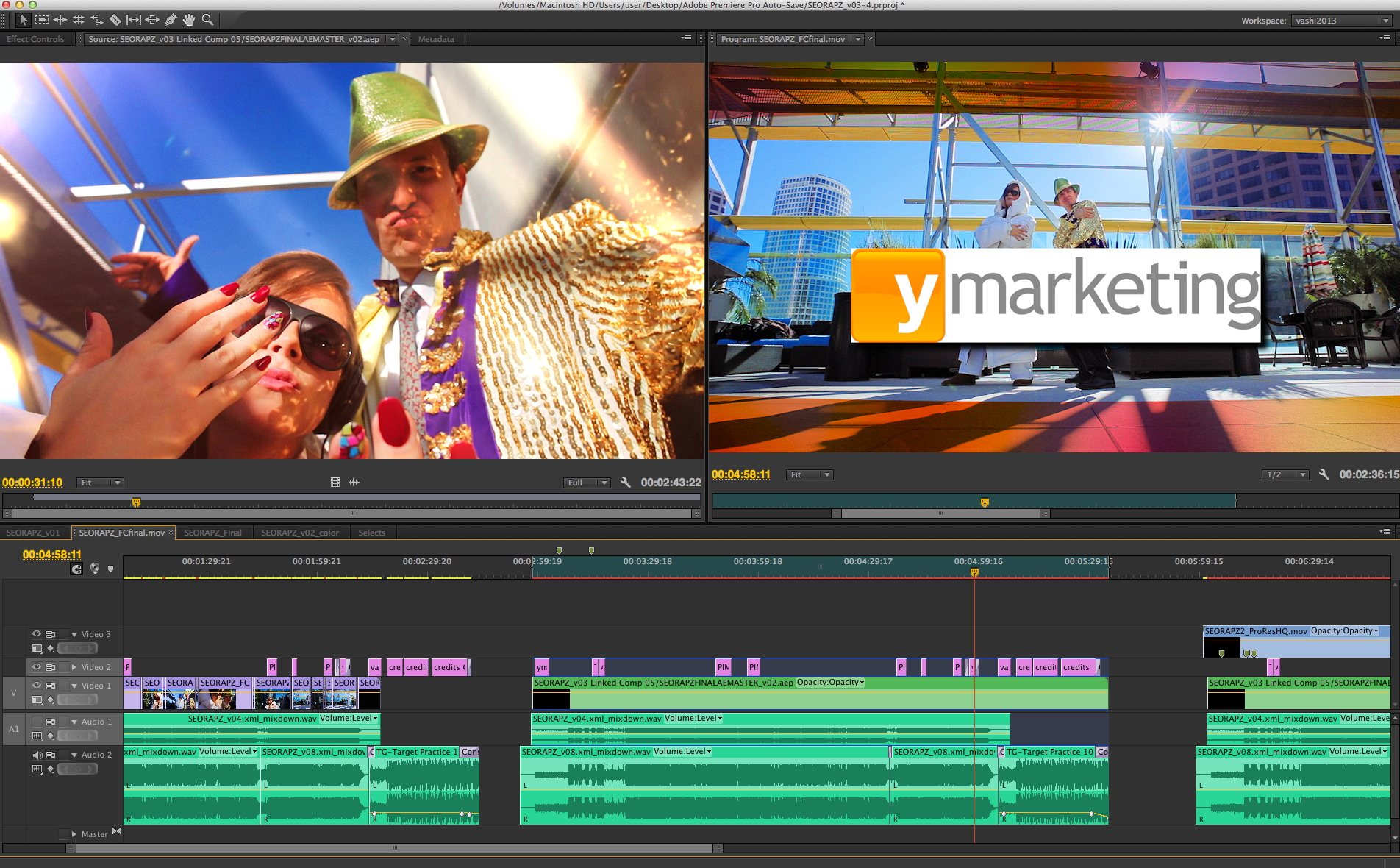 Editing my low budget film project.