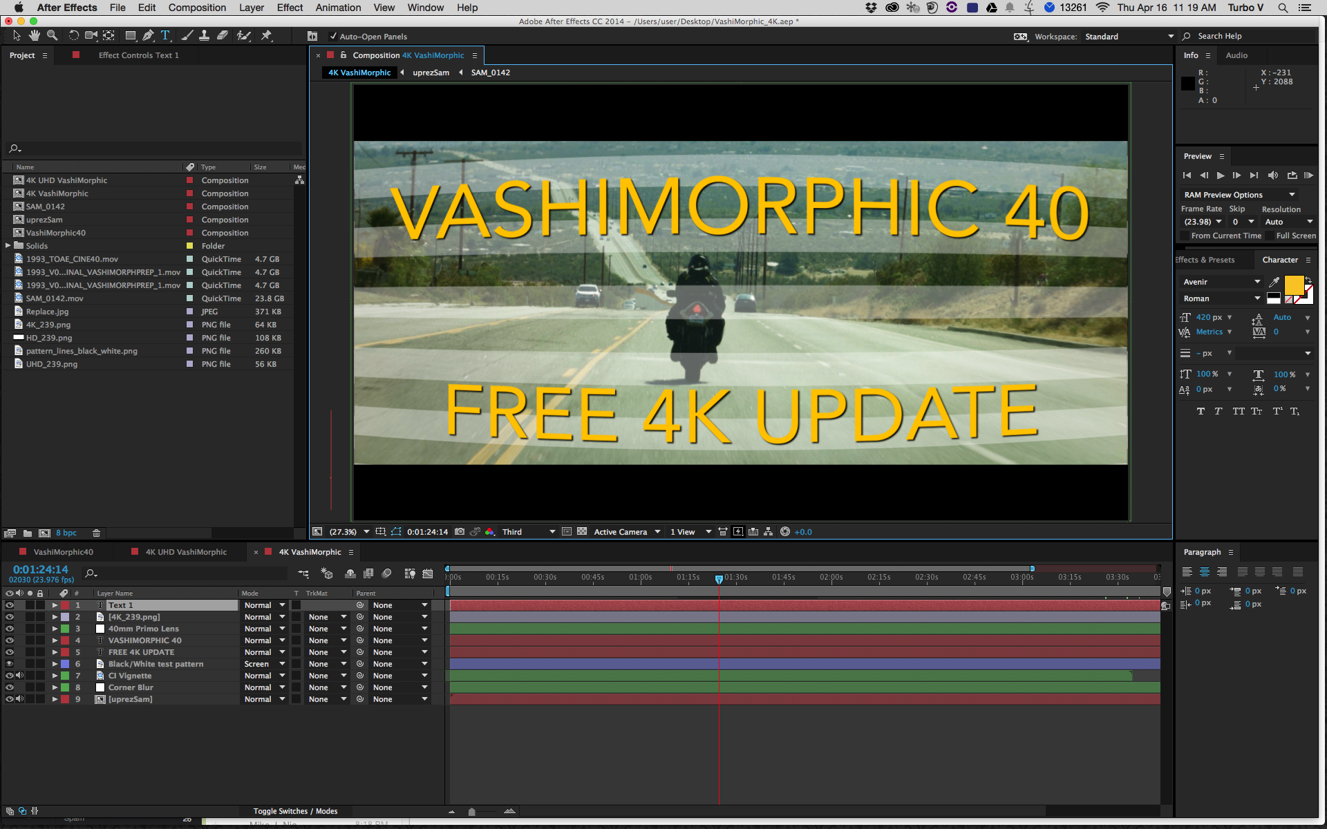 4K update for After Effects