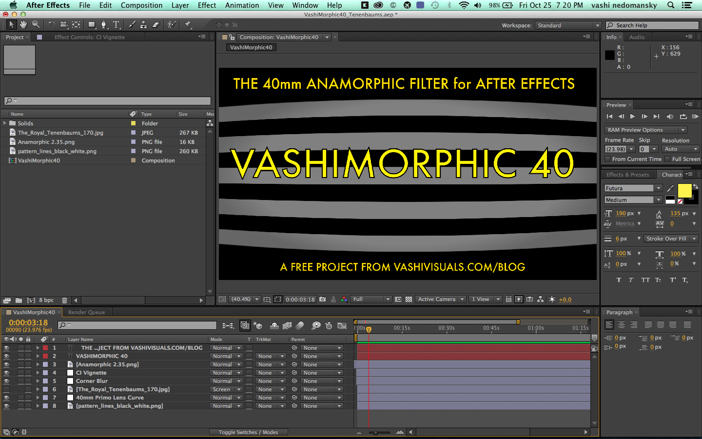 Full view in After Effects of VashiMorphic40