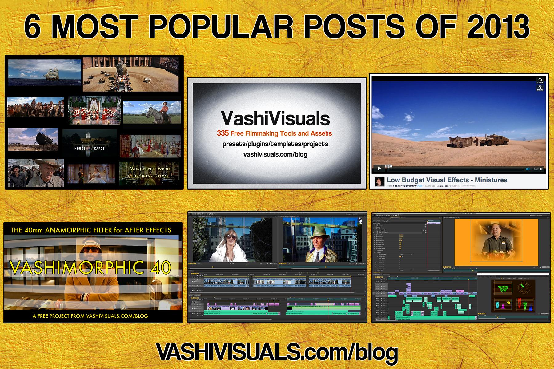 6 most popular posts of 2013 on VashiVisuals Blog