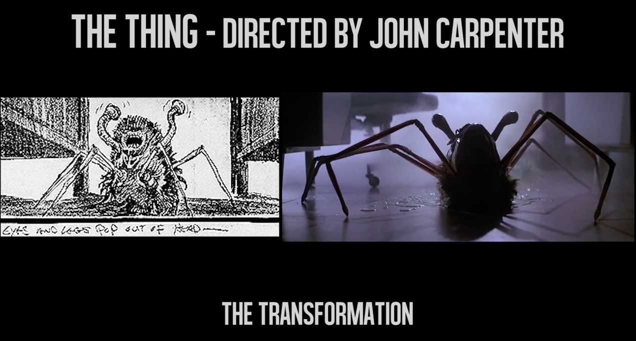The Thing storyboard