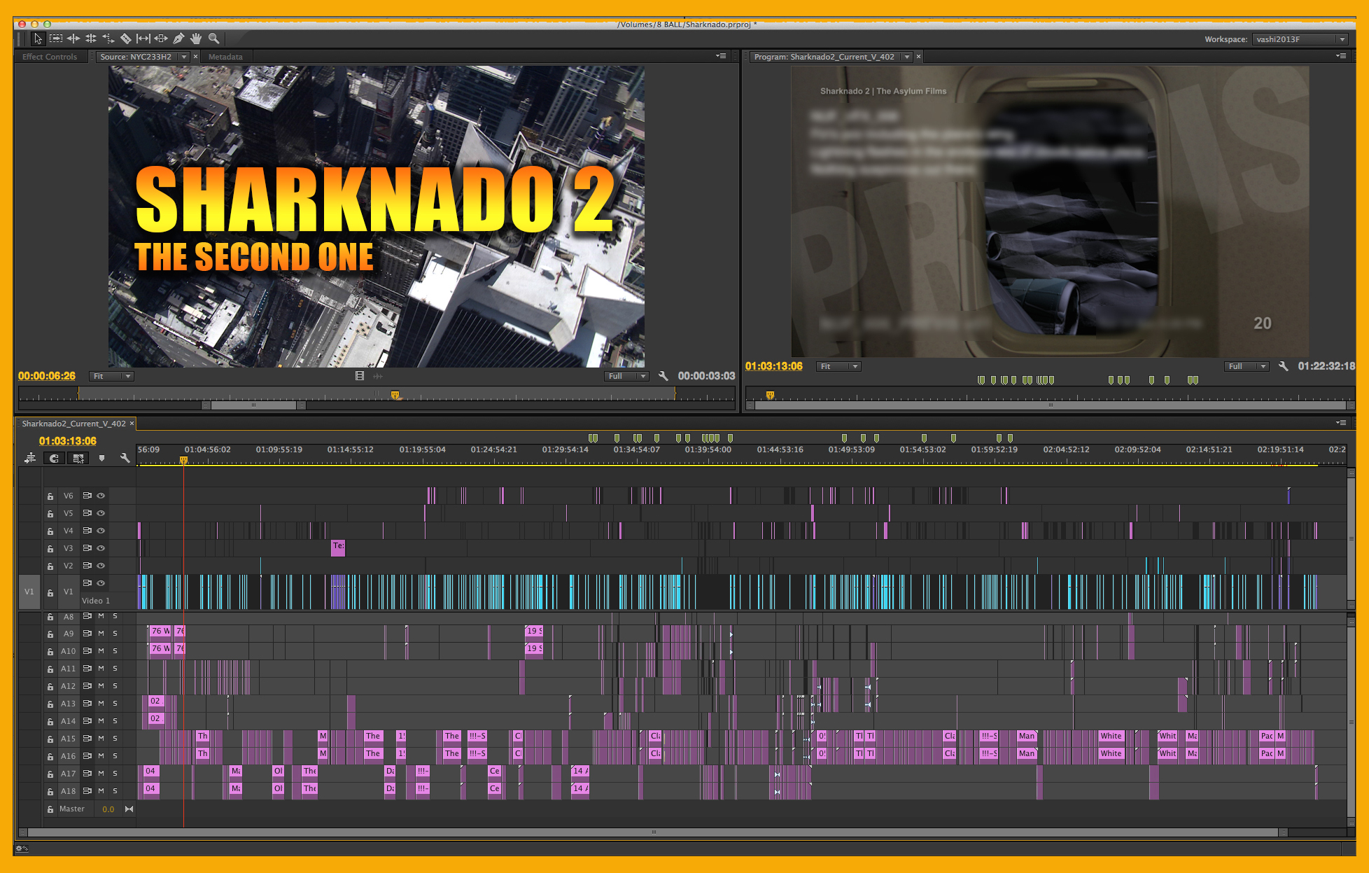 Entire film in one Premiere Pro timeline