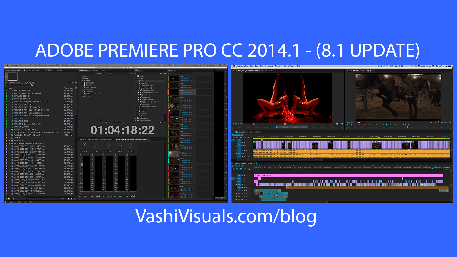 The latest update to Premiere Pro CC 2014