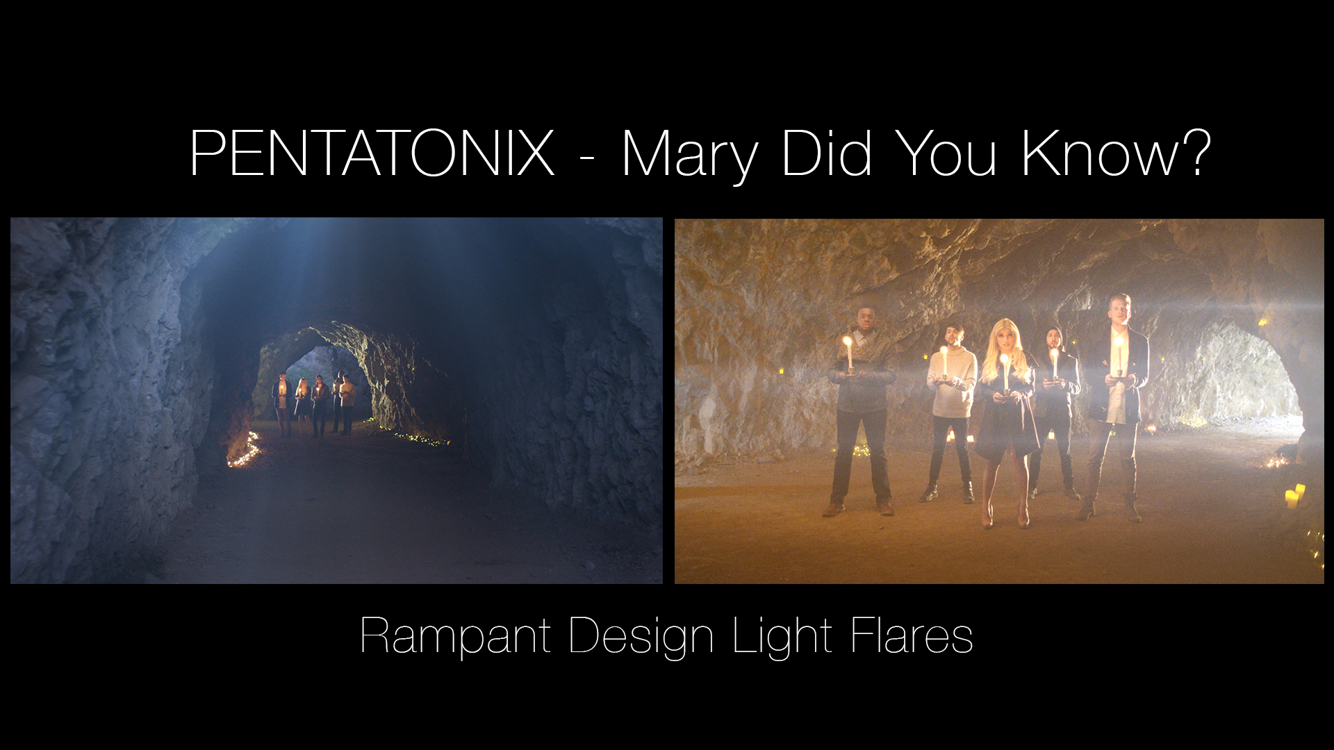 Rampant Design Light Flares in PENTATONIX music video