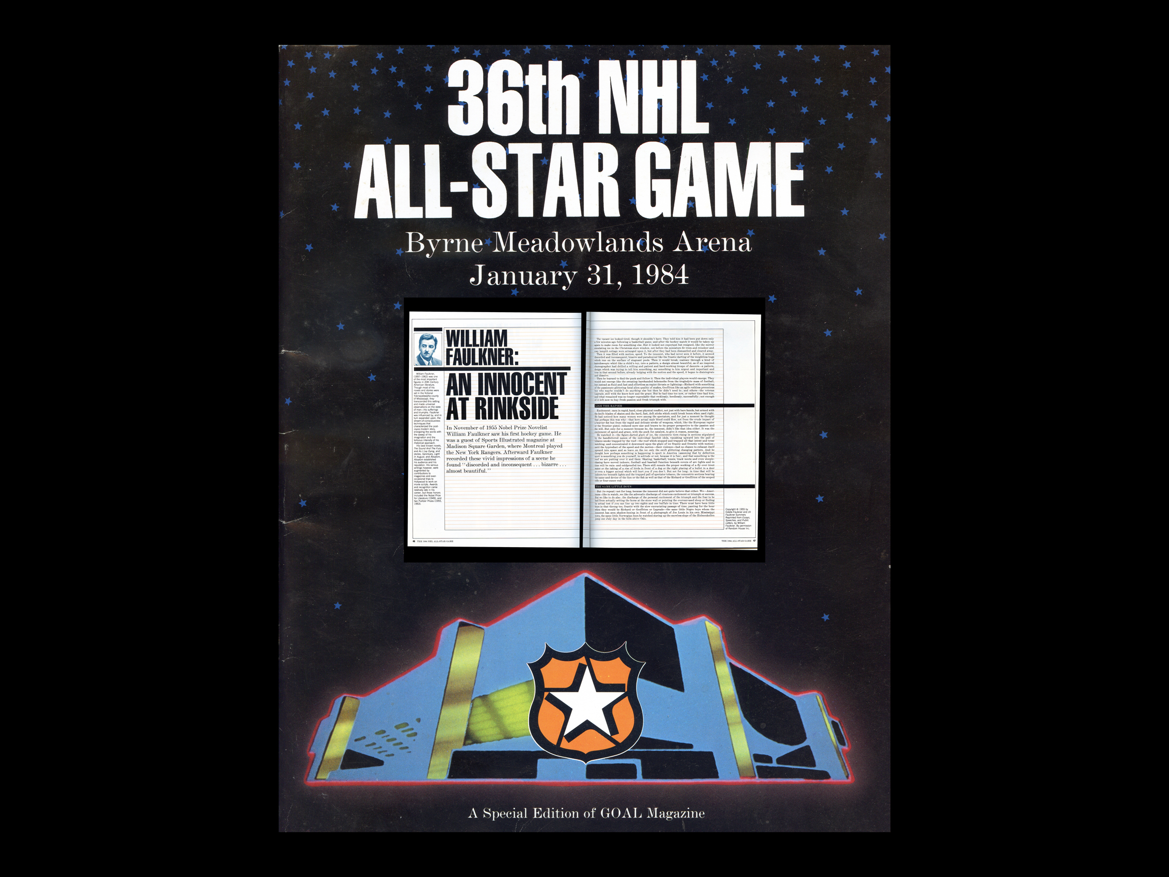 william faulkner essay on ice hockey blog the 36th nhl all star game magazine
