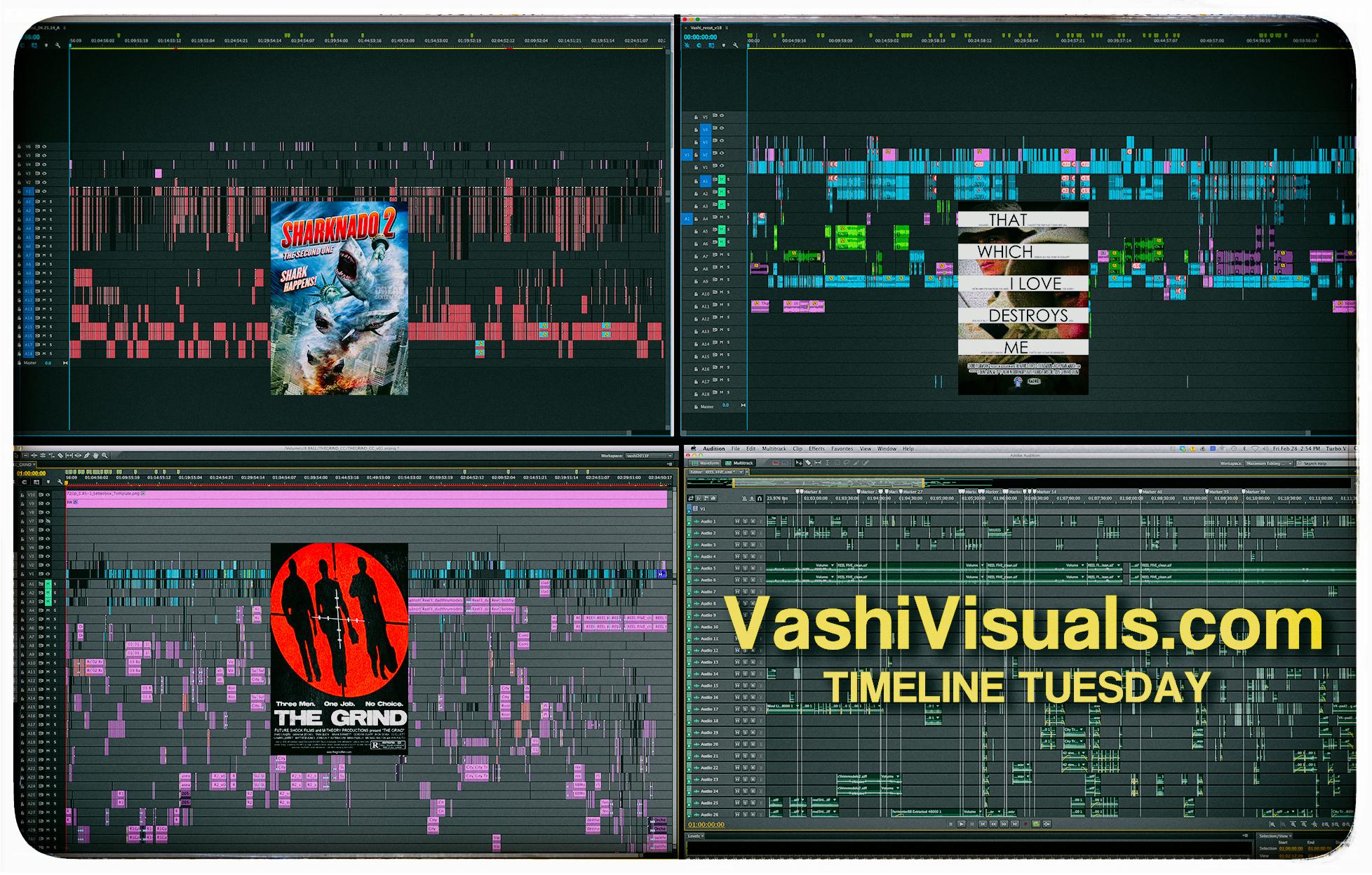 Adobe Premiere Pro timelines