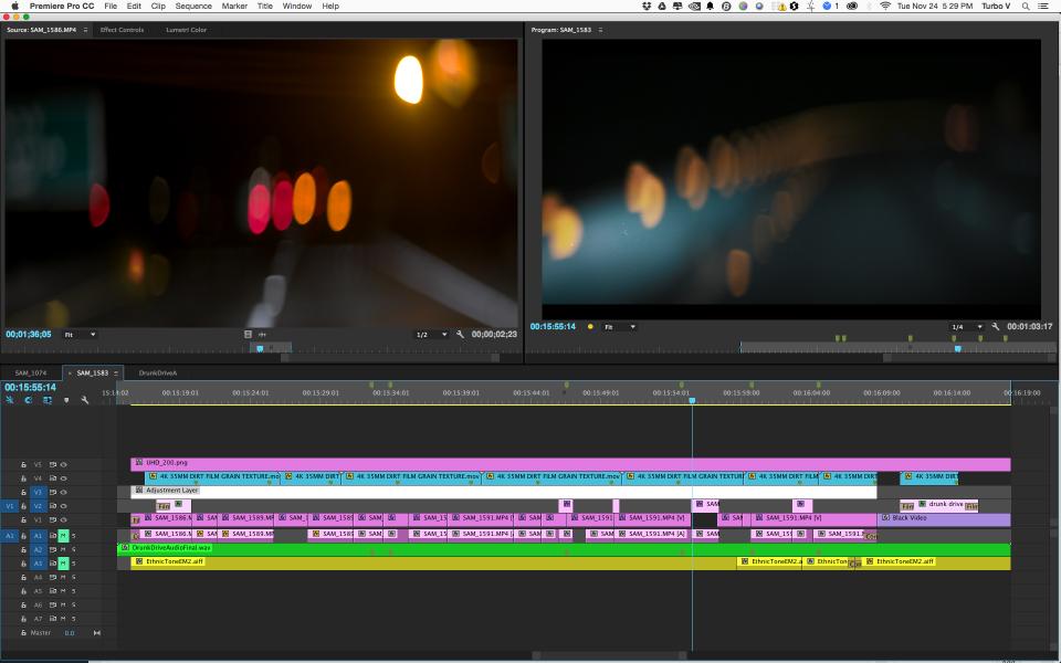 Premiere Pro CC 2015 UHD timeline (3840 x 2160)