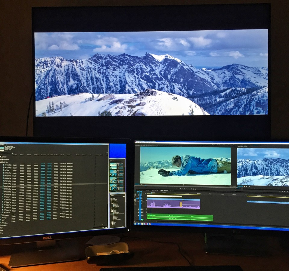 Editing in native #6K with 6 Below director Scott Waugh