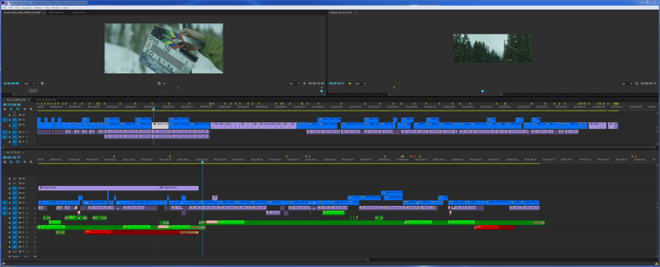 7-minute timeline using the Pancake Timeline editing 6 BELOW in native 6K