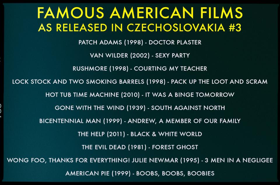 Czech movie translations
