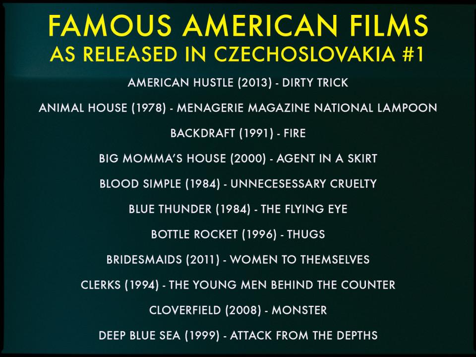 Czech movie translations #3